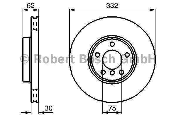 Disque de frein - BOSCH - 0 986 478 974