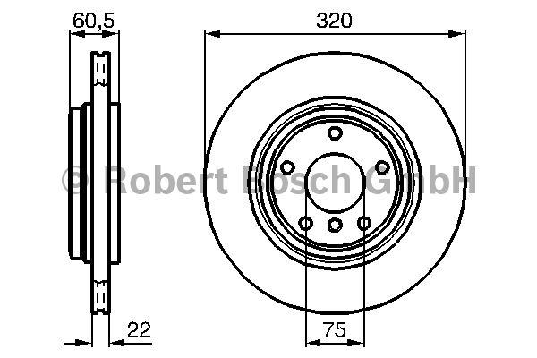 Disque de frein - BOSCH - 0 986 478 975
