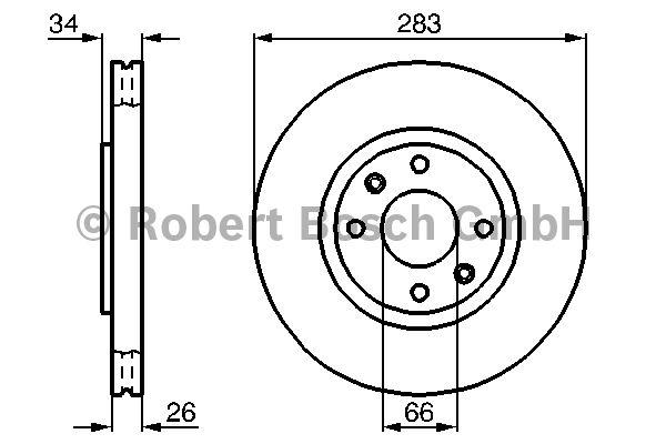 Disque de frein - BOSCH - 0 986 478 979