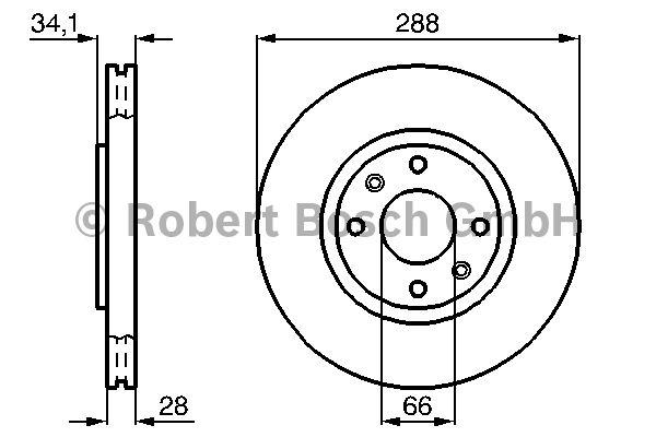 Disque de frein - BOSCH - 0 986 478 980