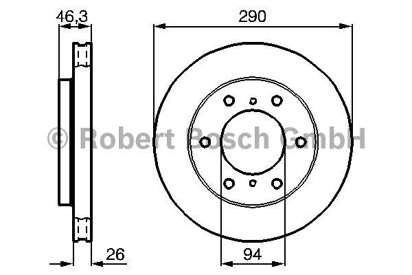 Disque de frein - BOSCH - 0 986 478 990