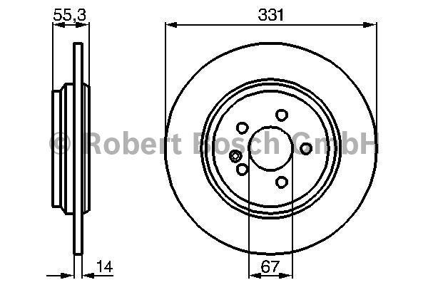 Disque de frein - BOSCH - 0 986 478 995