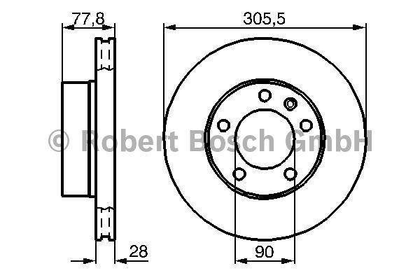 Disque de frein - BOSCH - 0 986 479 001