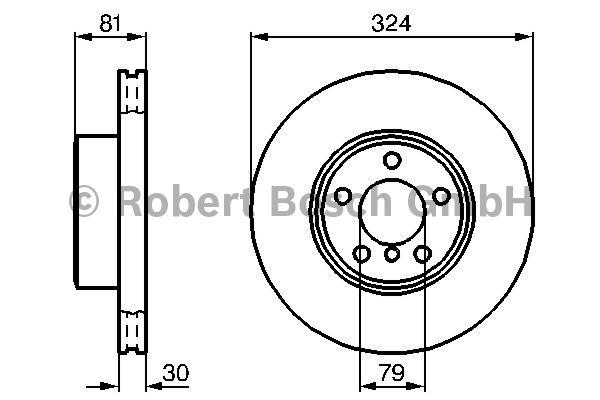 Disque de frein - BOSCH - 0 986 479 002