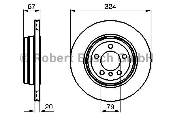 Disque de frein - BOSCH - 0 986 479 004