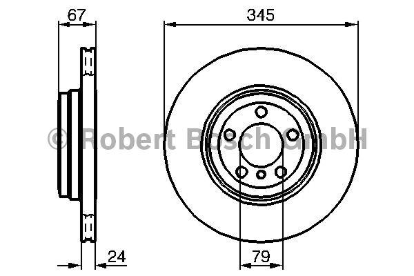 Disque de frein - BOSCH - 0 986 479 005
