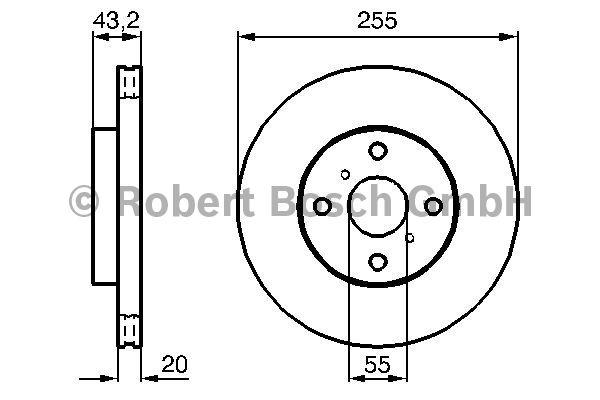 Disque de frein - BOSCH - 0 986 479 012