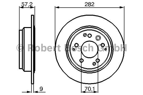 Disque de frein - BOSCH - 0 986 479 017