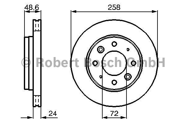 Disque de frein - BOSCH - 0 986 479 019