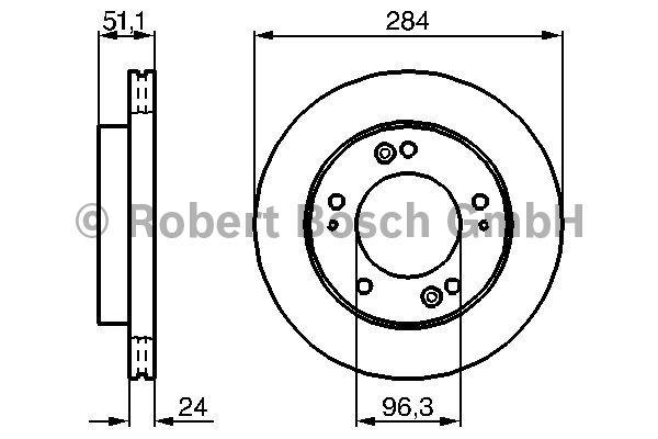 Disque de frein - BOSCH - 0 986 479 020