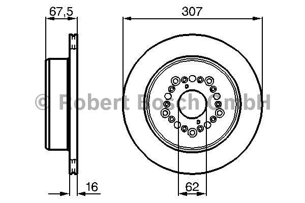 Disque de frein - BOSCH - 0 986 479 023