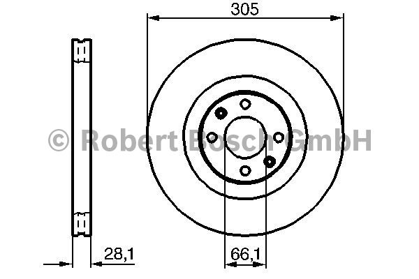 Disque de frein - BOSCH - 0 986 479 024