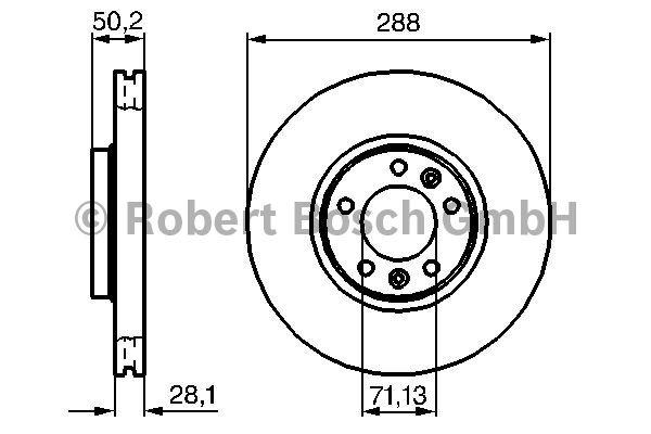 Disque de frein - BOSCH - 0 986 479 026