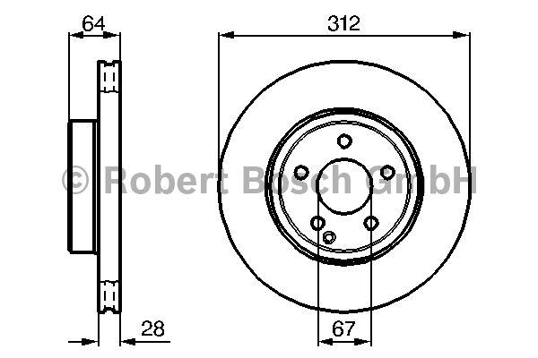 Disque de frein - BOSCH - 0 986 479 040