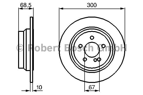 Disque de frein - BOSCH - 0 986 479 041