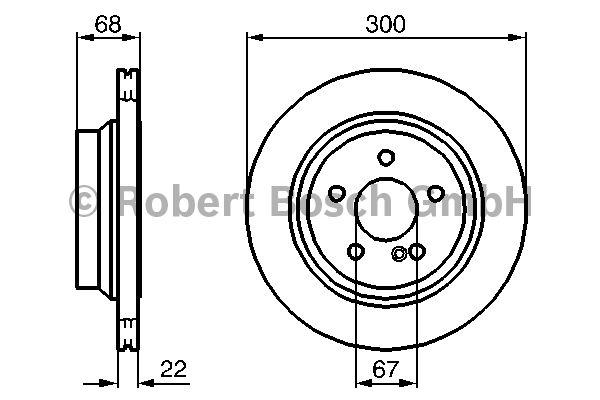 Disque de frein - BOSCH - 0 986 479 042