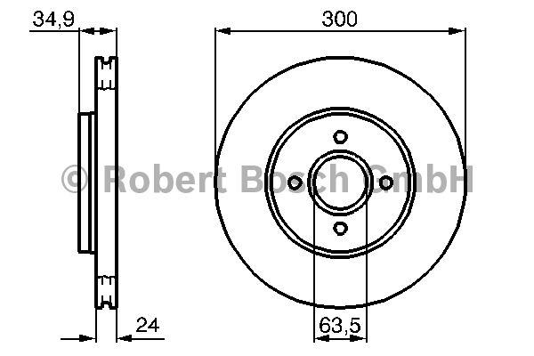 Disque de frein - BOSCH - 0 986 479 048
