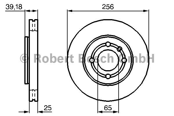 Disque de frein - BOSCH - 0 986 479 054
