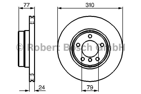 Disque de frein - BOSCH - 0 986 479 055
