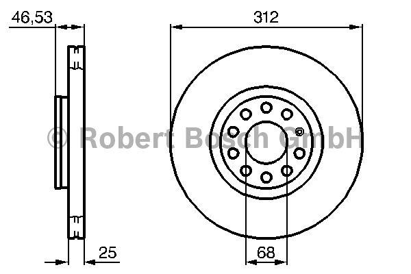 Disque de frein - BOSCH - 0 986 479 057