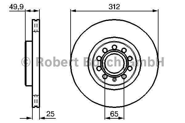 Disque de frein - BOSCH - 0 986 479 058
