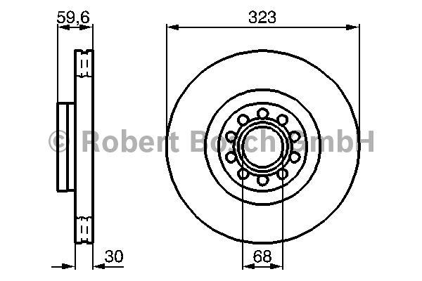 Disque de frein - BOSCH - 0 986 479 060