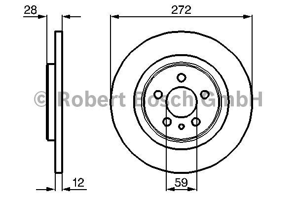 Disque de frein - BOSCH - 0 986 479 064
