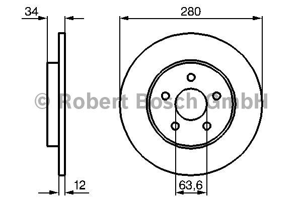 Disque de frein - BOSCH - 0 986 479 068