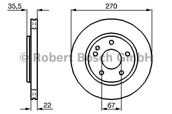 Disque de frein - BOSCH - 0 986 479 071