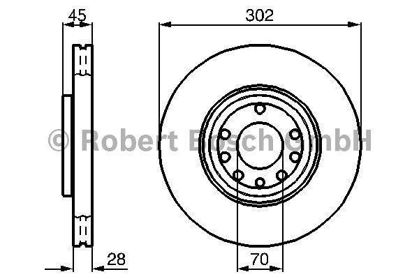 Disque de frein - BOSCH - 0 986 479 076