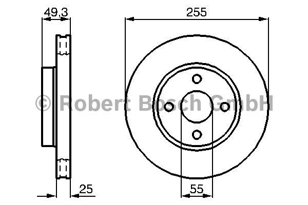 Disque de frein - BOSCH - 0 986 479 084