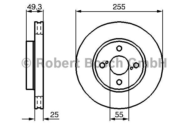 Disque de frein - BOSCH - 0 986 479 085
