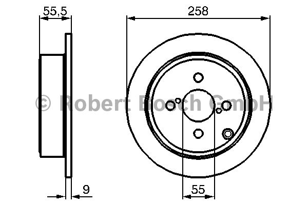 Disque de frein - BOSCH - 0 986 479 086
