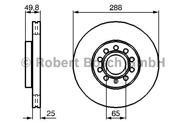 Disque de frein - BOSCH - 0 986 479 088