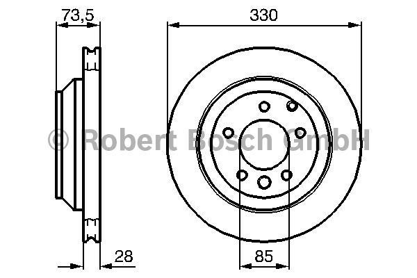 Disque de frein - BOSCH - 0 986 479 095