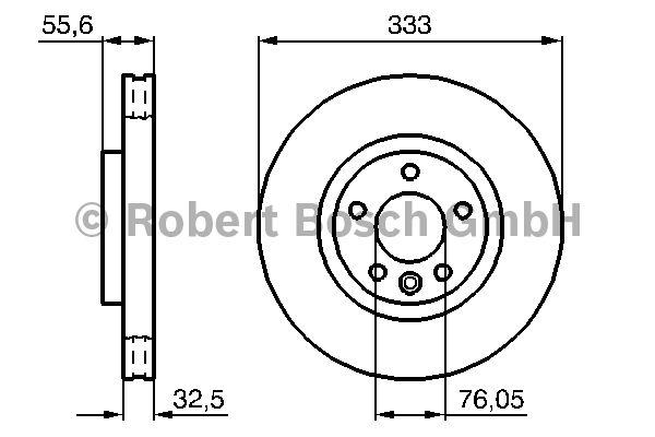 Disque de frein - BOSCH - 0 986 479 096
