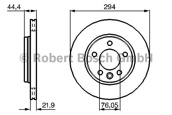 Disque de frein - BOSCH - 0 986 479 097