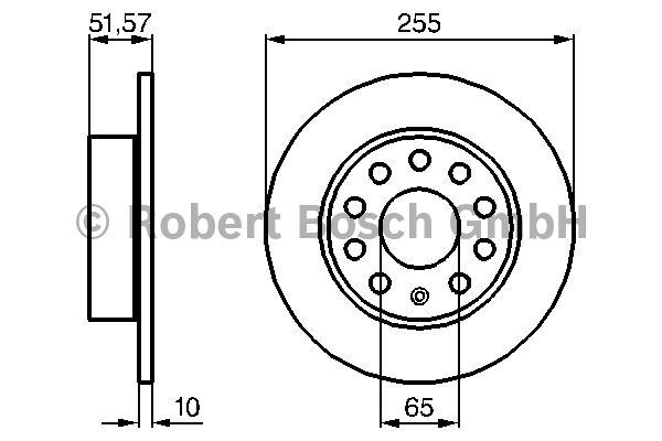 Disque de frein - BOSCH - 0 986 479 099