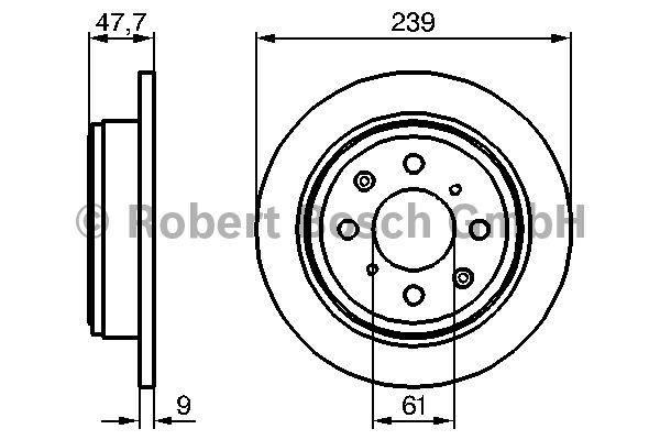 Disque de frein - BOSCH - 0 986 479 101