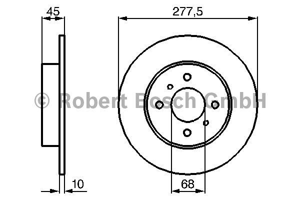 Disque de frein - BOSCH - 0 986 479 105