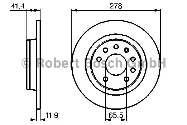 Disque de frein - BOSCH - 0 986 479 106