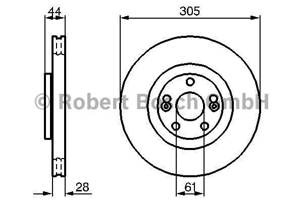 Disque de frein - BOSCH - 0 986 479 109