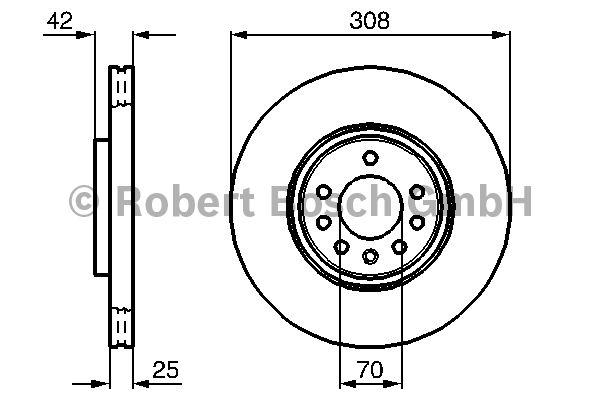 Disque de frein - BOSCH - 0 986 479 113