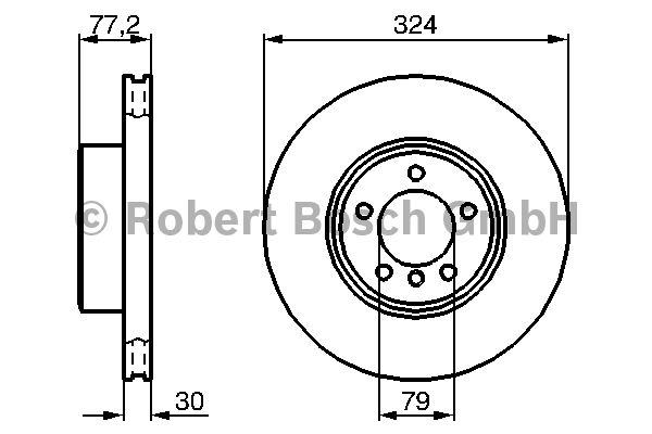 Disque de frein - BOSCH - 0 986 479 115