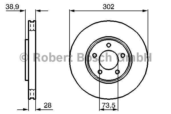 Disque de frein - BOSCH - 0 986 479 117