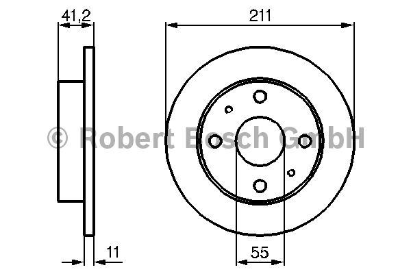 Disque de frein - BOSCH - 0 986 479 119