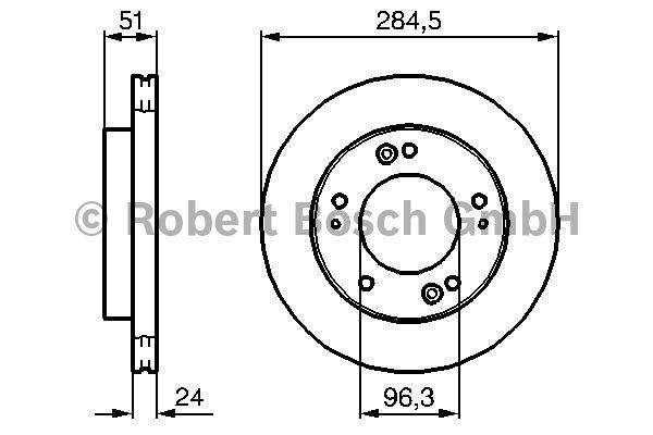 Disque de frein - BOSCH - 0 986 479 127