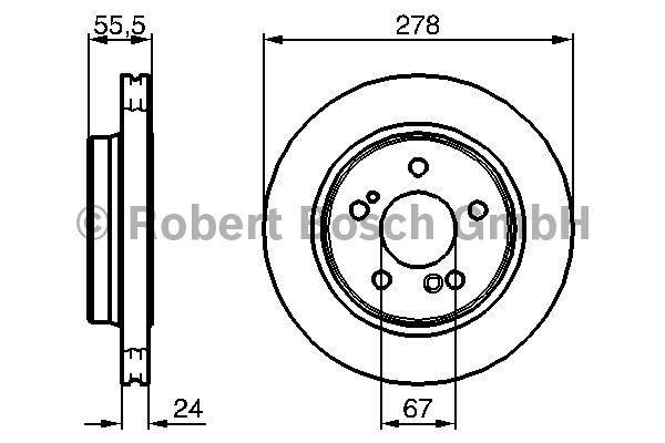 Disque de frein - BOSCH - 0 986 479 133