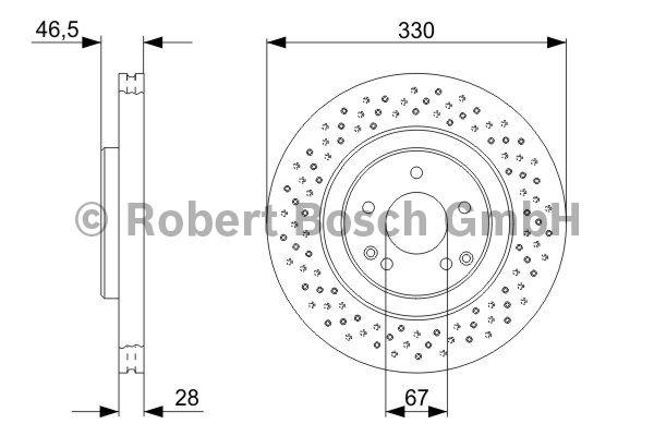Disque de frein - BOSCH - 0 986 479 135