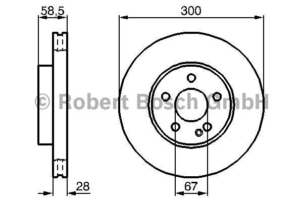 Disque de frein - BOSCH - 0 986 479 137